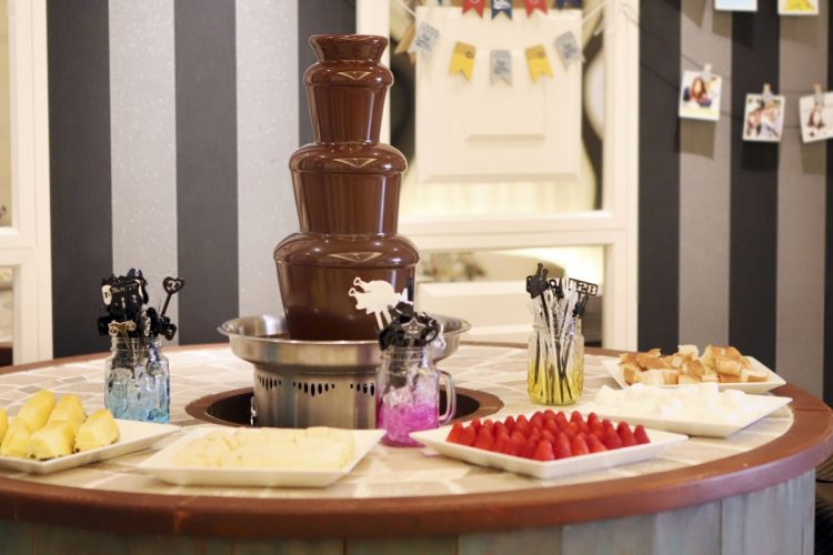 あま~い香り♡女性に大人気チョコレートファウンテン♡