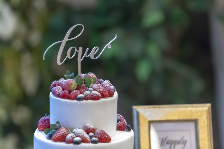 ケーキをおしゃれに